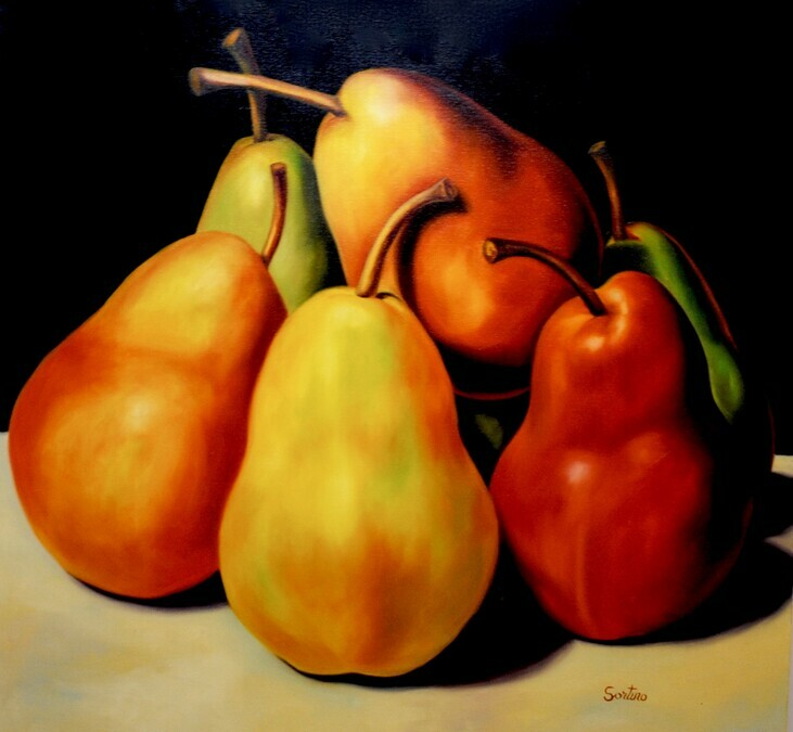 Carmelo Sortino Canadian Artist Fruit Paintings Five